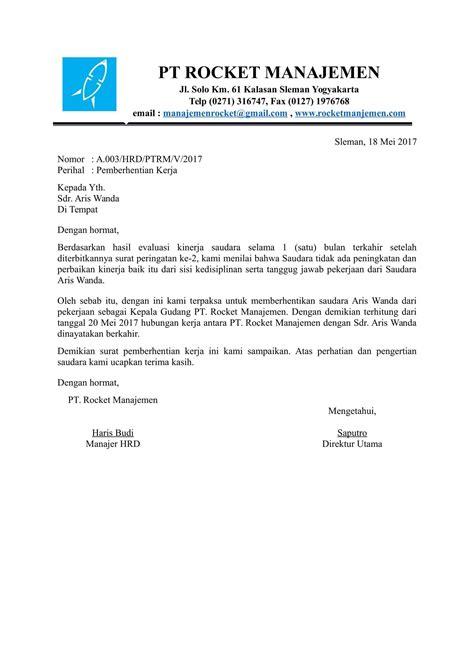 Surat Keterangan Layak Kerja by Contoh Surat Pemberhentian Kerja Yang Baik