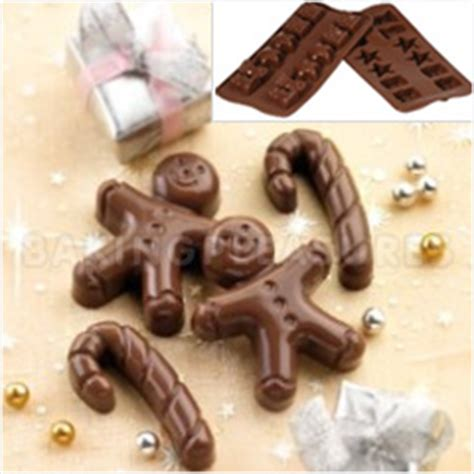 christmas gingerbread silicone chocolate mould