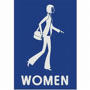 11 women39s restroom signs designs images restroom women for Women only bathroom sign