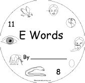 words that start with e preschool letter e alphabet activities at enchantedlearning 879