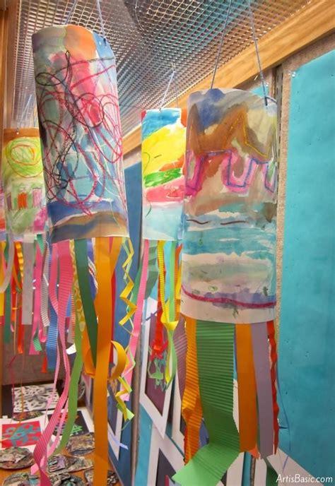 windsocks  kindergarten elementary art