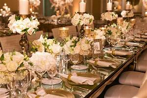 reception decor photos mirror top table with gold decor With mirror table decorations weddings