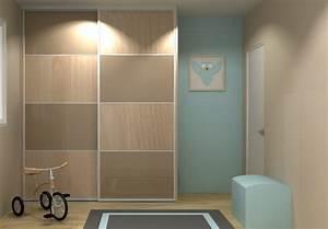 Porte Dressing Sur Mesure : porte dressing coulissante 2 vantaux portedeplacard ~ Premium-room.com Idées de Décoration