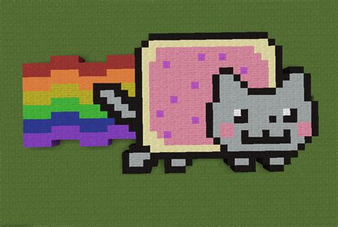 Nyan Cat Minecraft Pixel Art By Deadseriousbaboon On