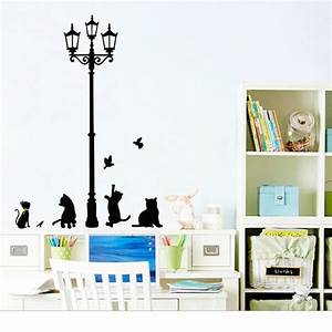 Cm lamp cat wall stickers home stairs sticker decor