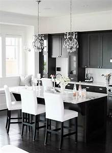 siyah mutfak dolaplari dekorasyon With kitchen colors with white cabinets with black and white elephant wall art