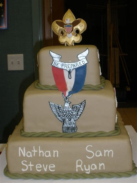 piece  cake eagle scout court  honor cake