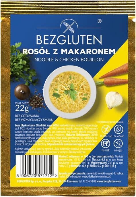 Bezglutēna vistas zupiņa ar nūdelēm (1 porcija) , 22 g ...