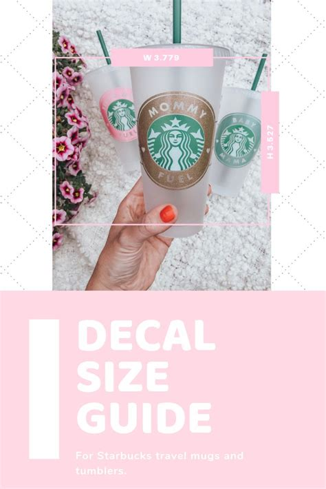 updated decal size guide  starbucks cups kayla  starbucks diy diy cricut cricut