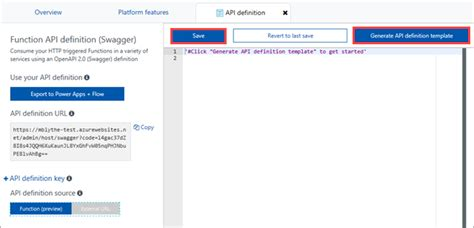 the code for a template function is generated when quizlet create an openapi definition for a function microsoft docs
