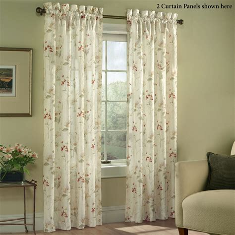 Sheer Window Treatments by Chantelle Crinkle Sheer Voile Floral Window Treatment