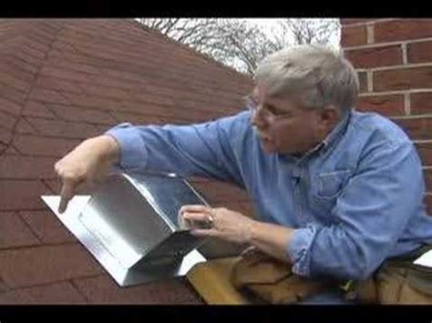 how to install a bathroom fan roof vent roof flashing for bathroom fans youtube