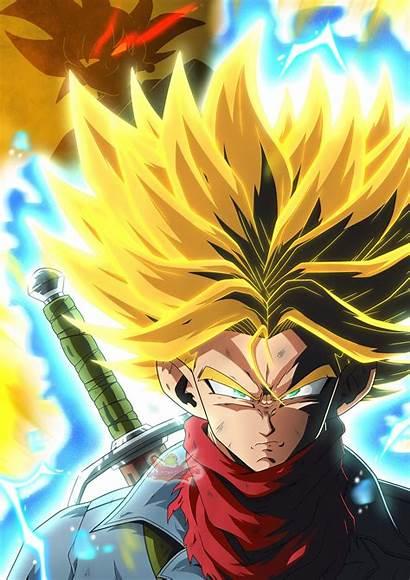 Trunks Rage Saiyan Form Dbz Dragon Ball