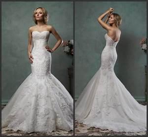 elegant 2016 mermaid amelia sposa wedding dresses trumpet With mermaid wedding dresses 2016