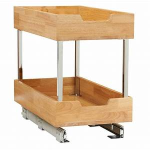 11, 5, In, Wood, Cabinet, 2, Tier, Organizer, In, Chrome-24221-1