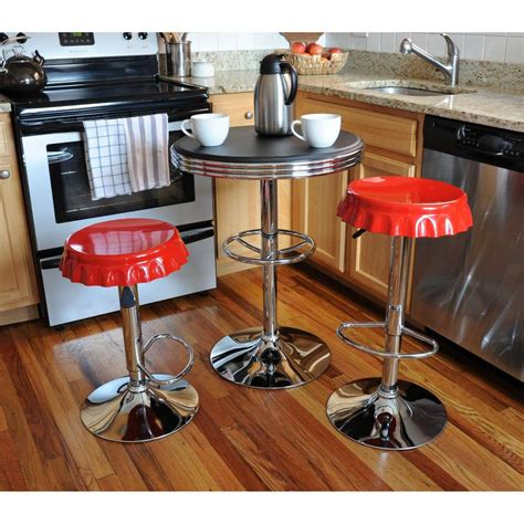 vintage bar stool amerihome loft adjustable height brushed nickel bar stool 3162