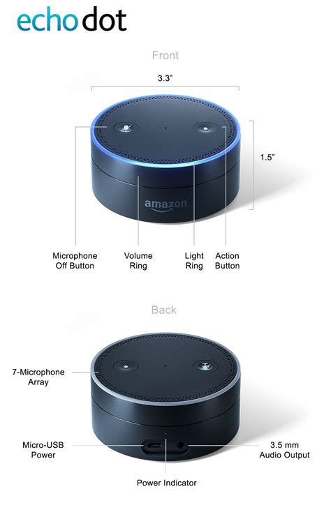 echo dot echo dot 2nd generation comes in black or white