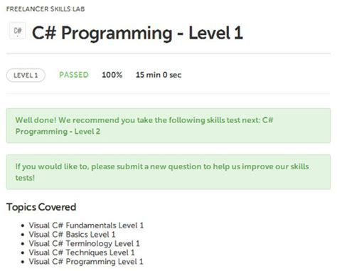 C Sharp Programmer Resume by Freelancer Tests And Answers