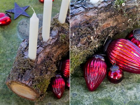 Schnelle Adventskranz Alternative Aus Holz