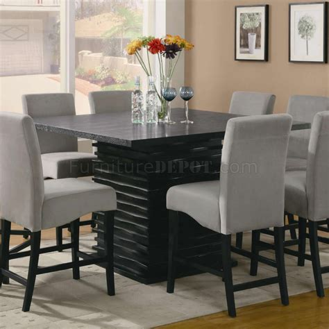 modern counter height table stanton counter height dining table in black coaster w