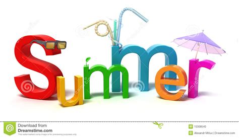 word summer with colourful letters stock 15308540