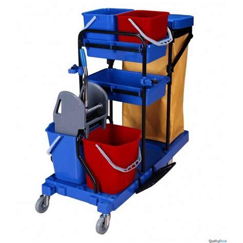 poubelle cuisine inox chariot de ménage professionnel avec presse et support sac