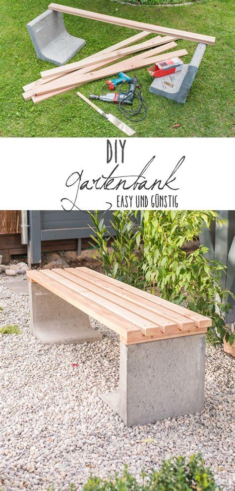 Deko Bank Garten by Diy Gartenbank Mit Beton Und Holz Diy Garten Deko
