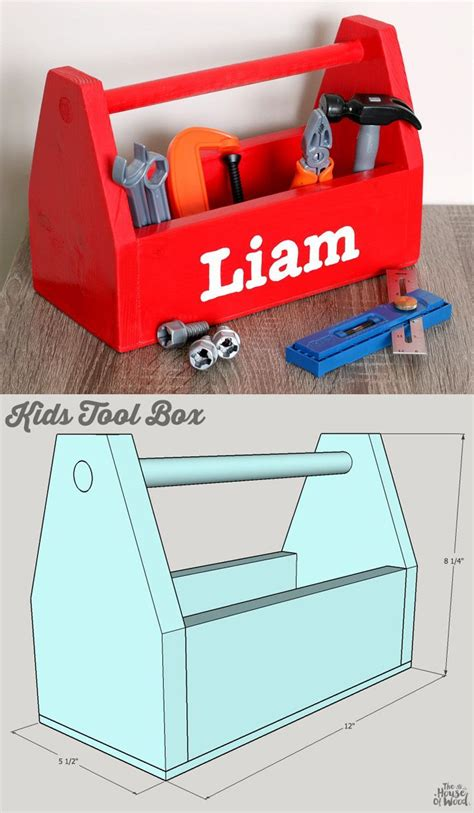 diy kids tool box kids tool box woodworking projects