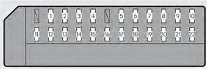 Lexus Gs350  2013 - 2014  - Fuse Box Diagram