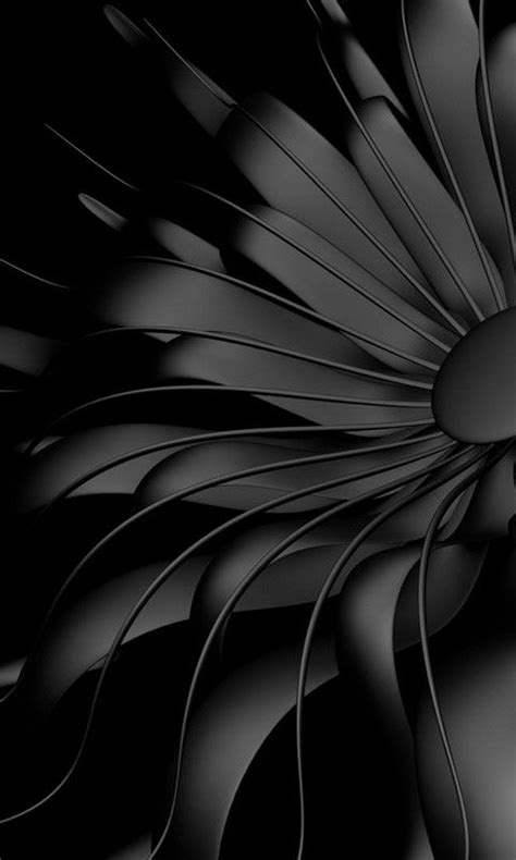 Abstract Black Phone Wallpaper by 480x800 171 Black Flower 187 Cell Phone Wallpaper