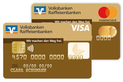 debit und kreditkarten vergleich volksbank  der