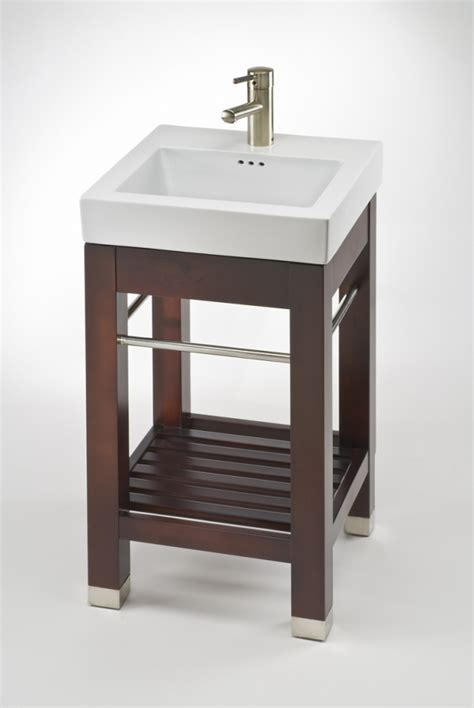 17.9 Inch Single Sink Square Console Bathroom Vanity with