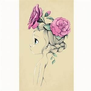 Tableau Deco Enfant : tableau sur toile wild girl rose pale ~ Teatrodelosmanantiales.com Idées de Décoration