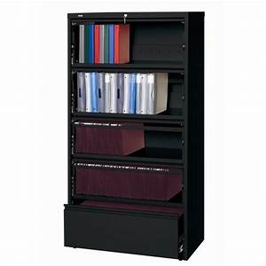 5 Drawer Lateral File Cabinet File in Black - 17902