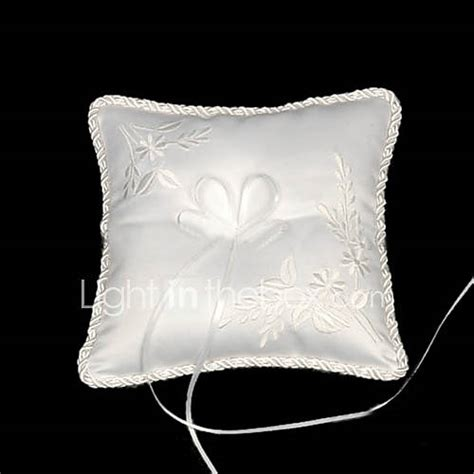 memorable treasures satin wedding ring bearer pillow with embroidery 260402 2017 99