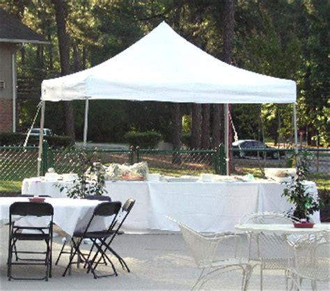 ft   ft goliath heavy duty  aluminum instant canopy white
