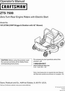 Craftsman 19hp Briggs And Stratton With 42 Mower 107 27768