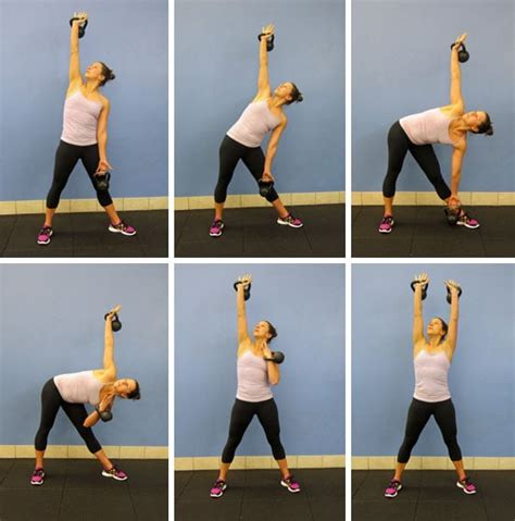 kettlebell windmill exercises crunches abs weight fitness exercise moves bell tone loss waist workout without double popsugar workouts arm body