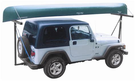 jeep kayak trailer canoe rack for jeep wrangler soft top cosmecol