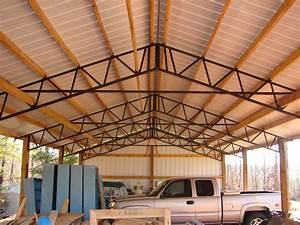 armour metals pole barns metal roofing and pole barns With 40 ft metal trusses