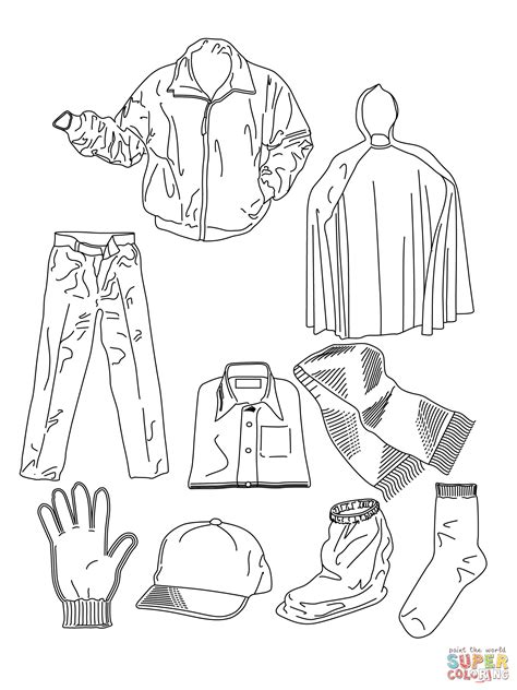 clothes coloring page  printable coloring pages