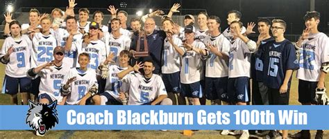 newsomes coach eric blackburn win tampa lax report