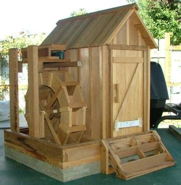 water wheel  mill house backyard projects home
