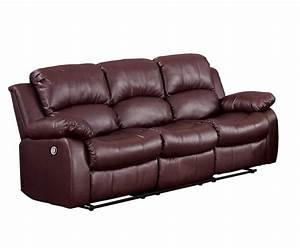 Homelegance cranley power double reclining sofa brown for Sectional sofa with double recliner