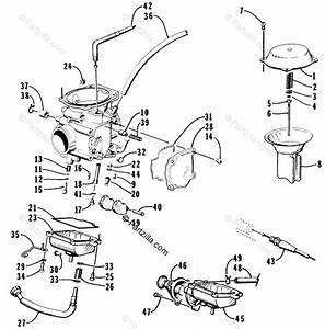 Arctic Cat Atv 1998 Oem Parts Diagram For Carburetor