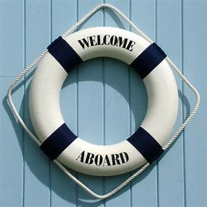 Welcome Aboard Life Ring - CoastalHome co uk: Home & Garden
