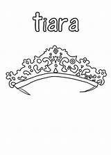 Coloring Crown Princess Tiara Pages Pretty Template Princes Netart Coloringhome sketch template