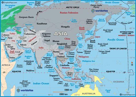 asia map map  asia asia maps  landforms roads