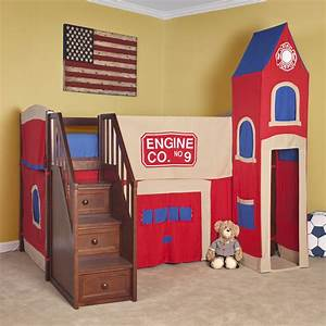 Beautiful Castle Bunk Beds With Slide And Stair Combined