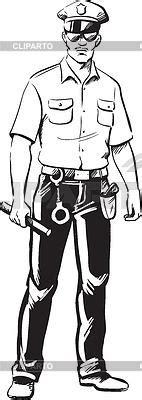 11589 policeman clipart black and white policeman stock vector graphics cliparto